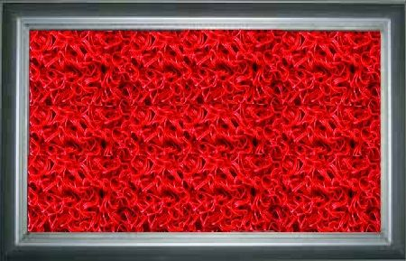 Metal Hijyenik Paspas Kırmızı